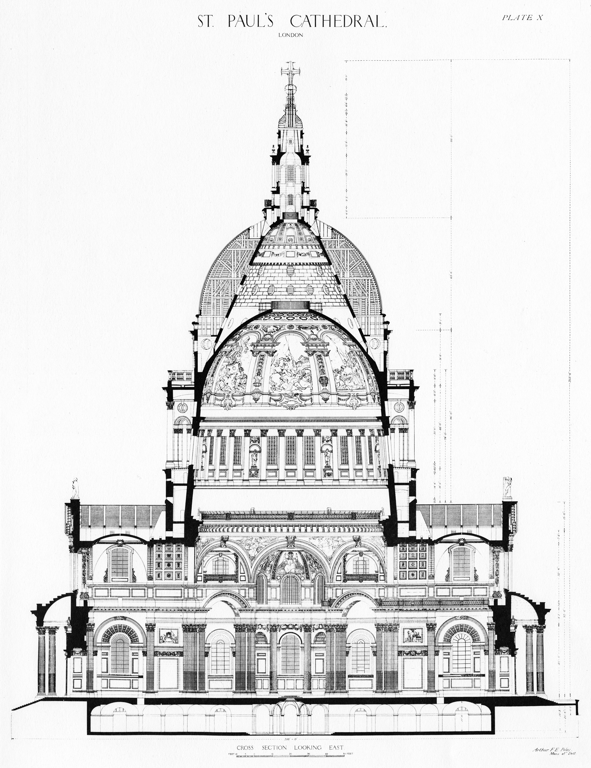 St paul s cathedral id 161 for Architectural design drawing company