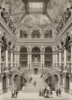 Palais_Garnier_Grand_Escalier_d'Honneur_-_Garnier_1880_vol2_plate8